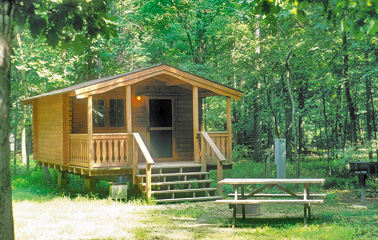 Four seasons family campground delaware river region of Campground cabin rentals
